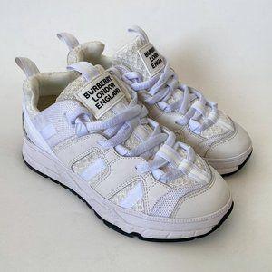 Burberry Kids Mesh and Nubuck Union Sneakers